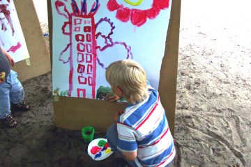 Im Garten großflächig zeichnen