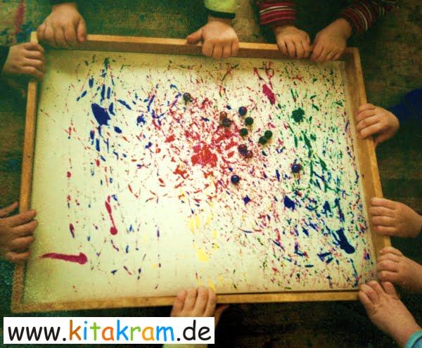Farben Im Kindergarten Ideen murmelbilder sind auch schon was für die jüngsten - kitakram.de