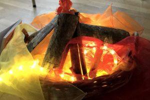 Ein Lagerfeuer in der Kita